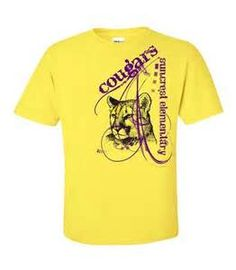 cougar spiritwear t shirt design school spiritwear shirts and apparel use your mascot graphic or ours easy and risk free great for elementary schools
