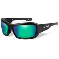 ce1a0f06ea Wiley X Polarized Sunglasses - Emerald Mirror Lens - Matte Black Frame Ray  Ban Sunglasses Sale