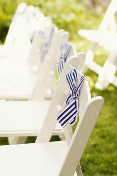 #nautical, #chair  Photography: Gem Photo - gem-photo.com Event Design + Planning: Enjoy Events Co. - enjoyeventsco.com Floral Design: Laura Miller Design - lauramillerdesign.com  Read More: http://www.stylemepretty.com/2012/08/10/bodega-bay-wedding-by-gem-photo/