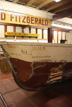 Edmund Fitzgerald Lifeboat No. 2 by shipwrecklog.com, via Flickr Merchant Navy, Merchant Marine, Edmund Fitzgerald, Great Lakes Ships, The Fitz, The Mitten State, Abandoned Ships, Canadian History, Shipwreck