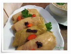 Gosia gotuje...: Gołąbki z sosem grzybowym