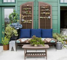 From headboards to planters, it's time to find a crafty new use for your old shutters.