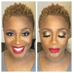 Avery Sunshine is giving face and hair! Short Natural Styles, Short Styles, Tapered Natural Hair, Tapered Twa, Twisted Hair, Pelo Afro, Sassy Hair, Natural Hair Inspiration, Hair Today