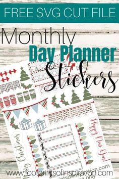 Get your FREE monthly SVG day planner stickers to use with your favorite cutting machine. Get them delivered to your inbox every month. Free Planner, Blog Planner, Happy Planner, 2015 Planner, Monthly Planner, Student Planner Printable, Printable Planner Stickers, Print And Cut Silhouette, Silhouette Curio