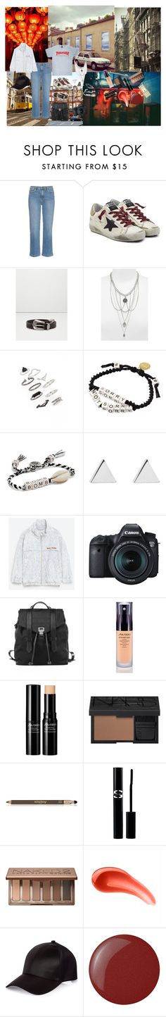 """""""Oh the places you will go..."""" by atho-12345 ❤ liked on Polyvore featuring City Streets, Frame Denim, Golden Goose, MANGO, Topshop, Venessa Arizaga, Jennifer Meyer Jewelry, Eos, Proenza Schouler and Shiseido"""