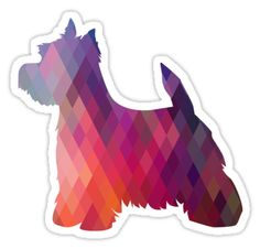 Westhighland White Terrier - Westie - Colorful Geometric Pattern Silhouette - Breed Collection  by TriPodDogDesign