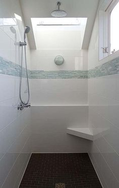 high window and walk in shower for new bathroom
