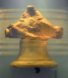 "The bell of the Whydah recovered from the wreck, inscribed, ""THE WHYDAH GALLY 1716""."