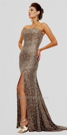 Cool gold sequin prom dresses 2017-2018