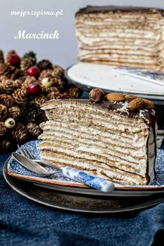 Torte Cake, Polish Recipes, Dessert Recipes, Desserts, No Bake Cake, Sweet Recipes, Sweet Tooth, Bakery, Bread