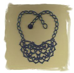 tatted lace and beads, Etsy