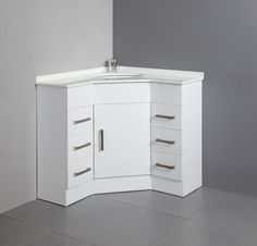 corner bathroom vanity cabinets | sink and cabinets in corner of