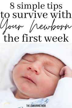 When you first bring your baby home, it can seem very challenging to manage life with a newborn. Especially if you are a first-time moms who has never had a baby before. It can be so terrifying knowing how to care for your newborn baby – its not like they come with instructions! Use these tips as a guide to help you make it through that first week with your newborn. #newborn #baby #babycare Newborn First Week, Baby Care Tips, Baby Tips, Newborn Baby Care, Newborn Essentials, Baby Hacks, Mom Hacks, Everything Baby, Baby Sleep