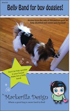 Belly band for boy dog sewing pattern PDF by MackerillaDesign, $2.75