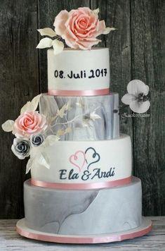 My First Wedding Cake by Zuckertraum - http://cakesdecor.com/cakes/284804-my-first-wedding-cake