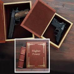 Secret Compartment Hollow Book Gun Safes