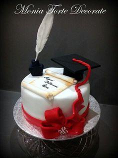 ❥●❥ ♥ ♥❥●❥ College Graduation Cakes, Graduation Party Desserts, Lawyer Cake, Congratulations Cake, Bolo Floral, Art Deco Cake, School Cake, Happy Birthday Cakes, Fancy Cakes