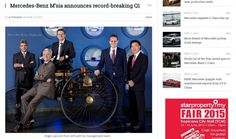 Mercedes-Benz Malaysia CEO Mr. Roland Folger and the management team