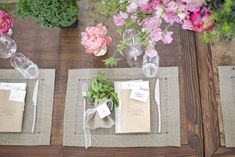 flowers and table setting.  Like the idea of potting some herbs as well for interest.