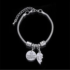 BBF Best Friends No Matter Where Compass Split Broken Heart Double Bracelets Set Friendship Gift Jewellery Uk, Jewelry, Friendship Gifts, Bracelet Set, Compass, Heart, Silver, Jewlery, Jewerly