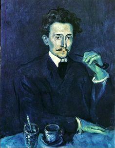 """Pablo Picasso - """"Portrait du tailleur Soler"""". 1903"""