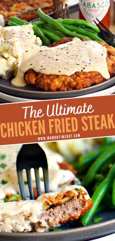 Chicken Fried Steak Gravy, Chicken Fried Chicken, Chicken Friend Steak, Fried Chicken Dinner, Beef Dishes, Food Dishes, Main Dishes, Chicken Recipes, Potato Recipes