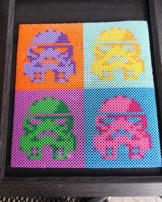 Andy Warhol colored Star Wars Stormtropper art perler beads by WeesBoutique