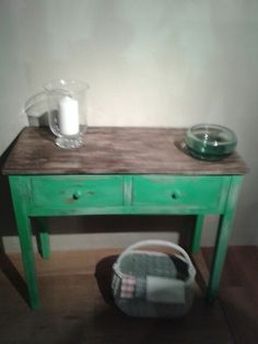 Update old console tables with Vintro Chalk Paint.   Available in 31 amazing colours.  See www.vintro.co.uk for stockists.