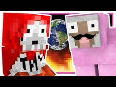 JUMPING IN OUTER SPACE!! | Minecraft Dropper Challenge (ExplodingTNT VS. Pink Sheep) - YouTube Channel Logo, Pink Sheep, Vs Pink, Purple, Outer Space, Legos, Youtubers, Minecraft, Rest