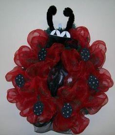 Ladybug Wreath  www.ultimatelyyoursllc.com