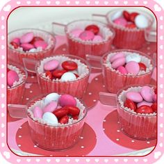 Mini teacups!  #viablossom #teacups #valentine
