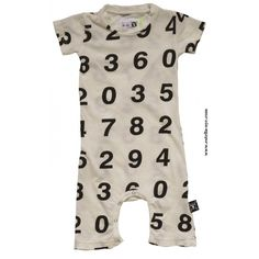 NUNUNU Numbers Baby Playsuit