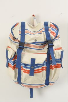 Wood Wood  striped mills bag