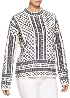 Tory Burch Printed Jacquard Sweater
