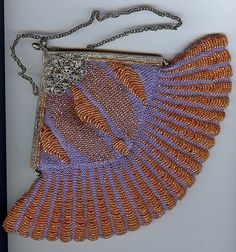 purple orange cathedral purse
