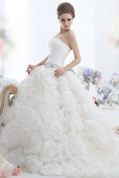 Divine Ball Gown Strapless Cathedral Train Organza Wedding Dress CWLT1306A $499.00 wedding dress, wedding dress, wedding dress, wedding dress, wedding dress