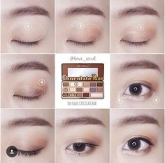 69 Ideas eye makeup paso a paso faces for 2019 Korean Makeup Look, Asian Makeup, Korea Makeup, Makeup Tips, Beauty Makeup, Hair Makeup, Makeup Ideas, Diy Makeup Application, Makeup Before And After