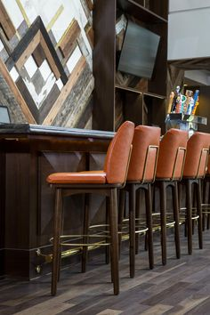 Stools with backs | Restaurant and bar decor ideas with leather bar stools | #barstool #kitchendesign #interiordesign | Discover more at http://counterandbarstools.eu/shop/