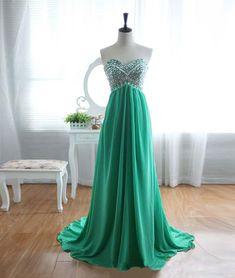 prom dresses,New Arrival green a-line sweetheart neck chiffon long prom dress, evening dress #promdresses #longpromdresses #2018promdresses #fashionpromdresses #charmingpromdresses #2018newstyles #fashions #styles #teens #teensprom