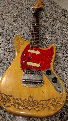 Fender Mustang 1966 Clear natural   Reverb