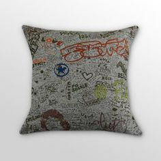 Just the Facts Comfort Pillow Comfortable Pillows, Dorm Decorations, Boy Room, Graffiti, Street Art, Sweet Home, New Homes, Diy Projects, Throw Pillows
