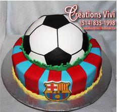 Gâteau ballon de soccer
