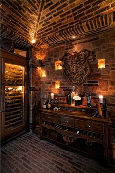 Romantic French wine cellar.    All they need is some custom monogrammed wine glasses and stemware from Crystal Imagery! http://www.crystalimagery.com