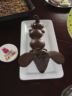 Wiener Dog Cupcakes...um Debbie, if you are reading this, my birthday is coming up and I think you could make a really awesome weiner dog cake lol jk