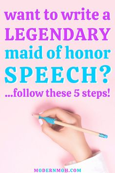 Want to write a legendary maid of honor speech? Follow our simple 5 step method to take your speech to a standing ovation level! #maidofhonorspeech #maidofhonorspeechtips #MOHspeech #ModernMOH Matron Of Honor Speech, Matron Of Honour, Free Wedding, Wedding Day, Standing Ovation, How We Met, Fancy Words, Great Friends, Happily Ever After