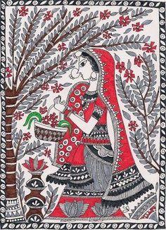 Madhubani Painting: Madhubani painting or Mithila painting is a style of Indian… Mandala Art, Folk Art, Madhubani Paintings Peacock, Indian Artwork, Tribal Art, Madhubani Art, Fabric Painting, Madhubani Painting, Kalamkari Painting