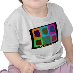 Colorful Arizona State Pop Art Map Childrens Shirts