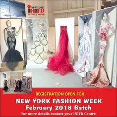 #RegistrationOpen.. New York Fashion Week batch admission open for February 2018. All INIFD & Ex students contact INIFD Centre for details #INIFDnewyork #admissionsopen #NewYorkFashionWeek #luckybatch #limitedseats #applynow