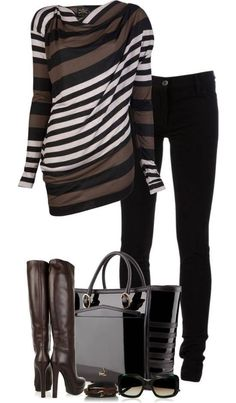 fall outfit. great sweater dress