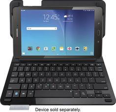 Logitech - Type S Keyboard Folio Case for Samsung Galaxy Tab E 9.6 - Black